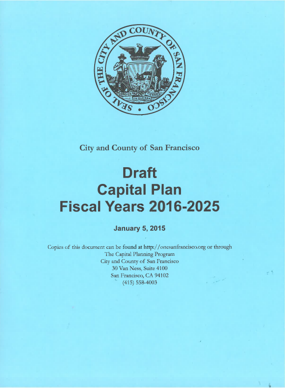 FY2016-25 Draft Ten-Year Capital Plan
