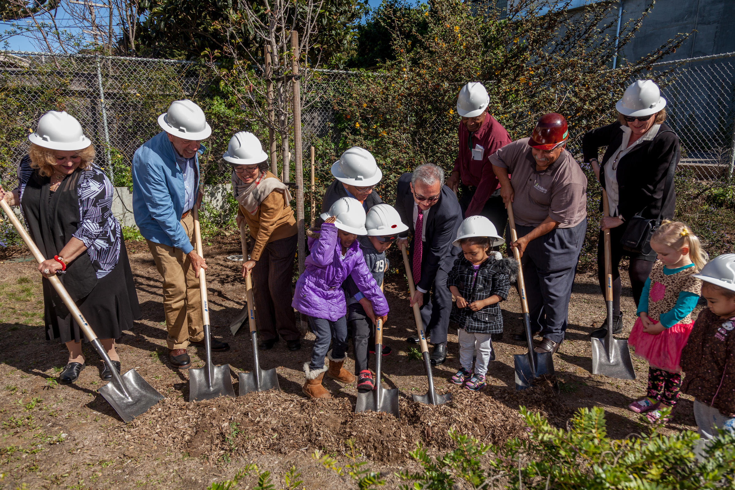 ingleside garden groundbreaking
