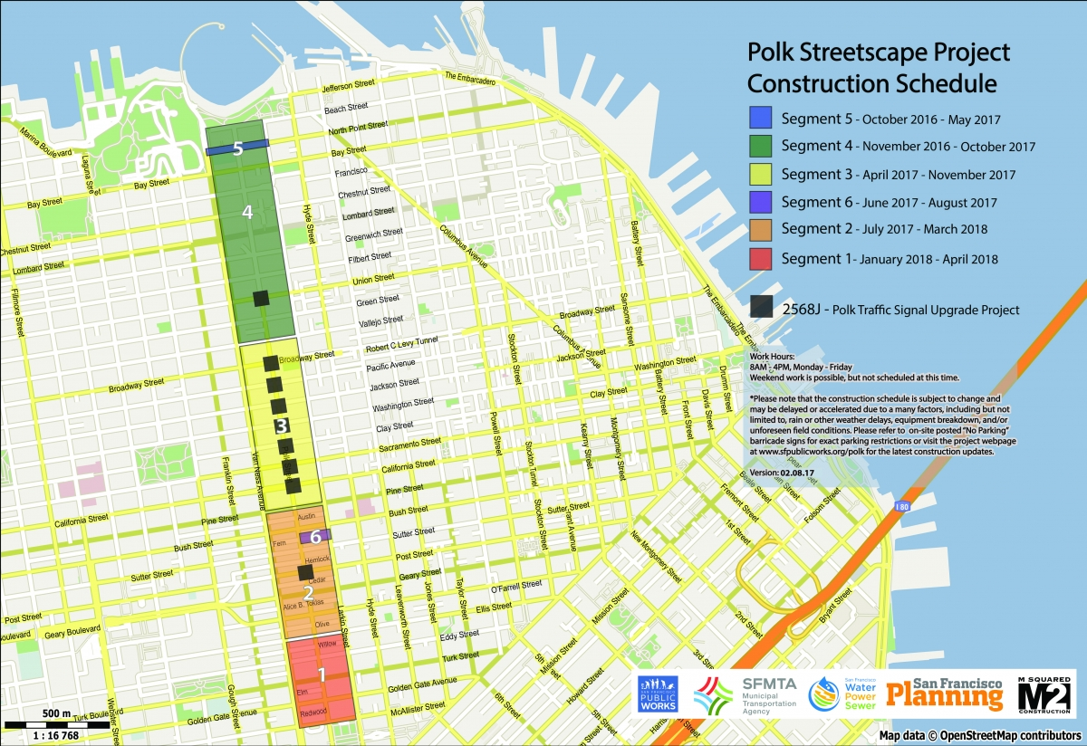 Polk Streetscape Project Public Works - Map san francisco bus routes