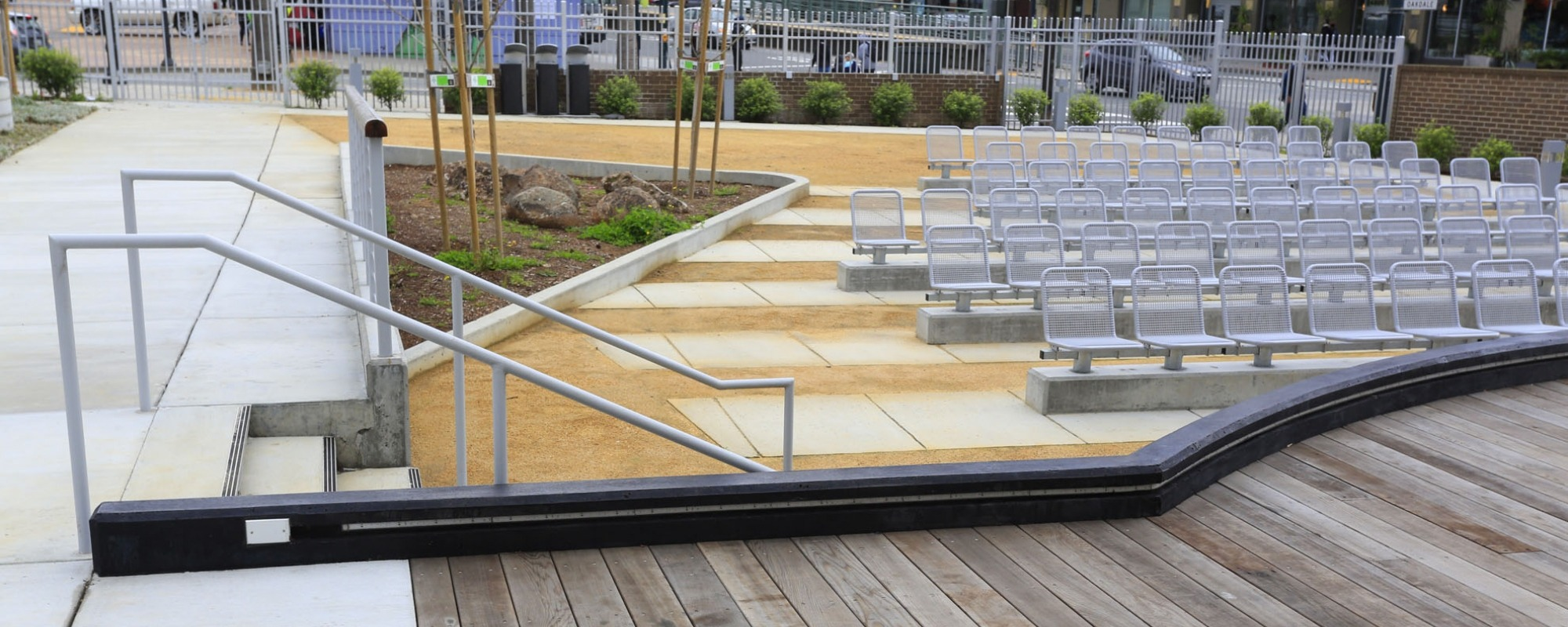 view of seating from deck