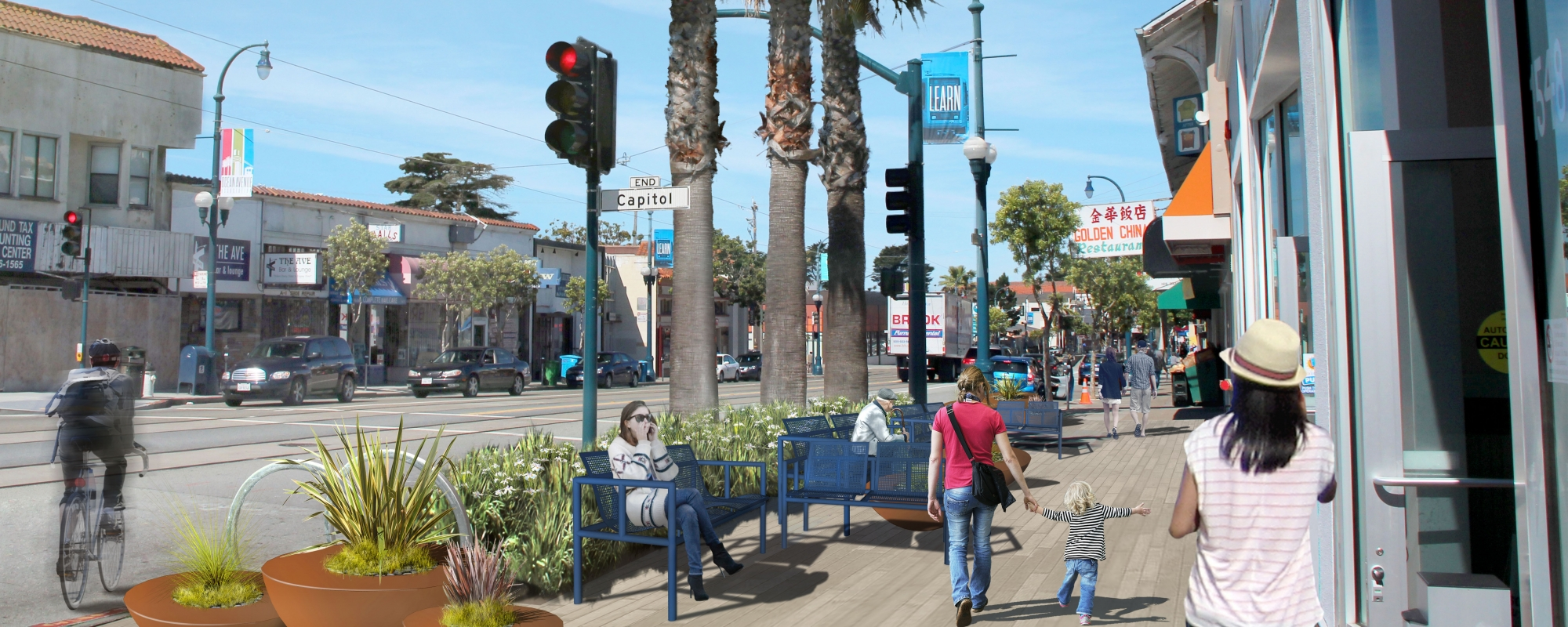 Rendering of Ocean Avenue and Capitol
