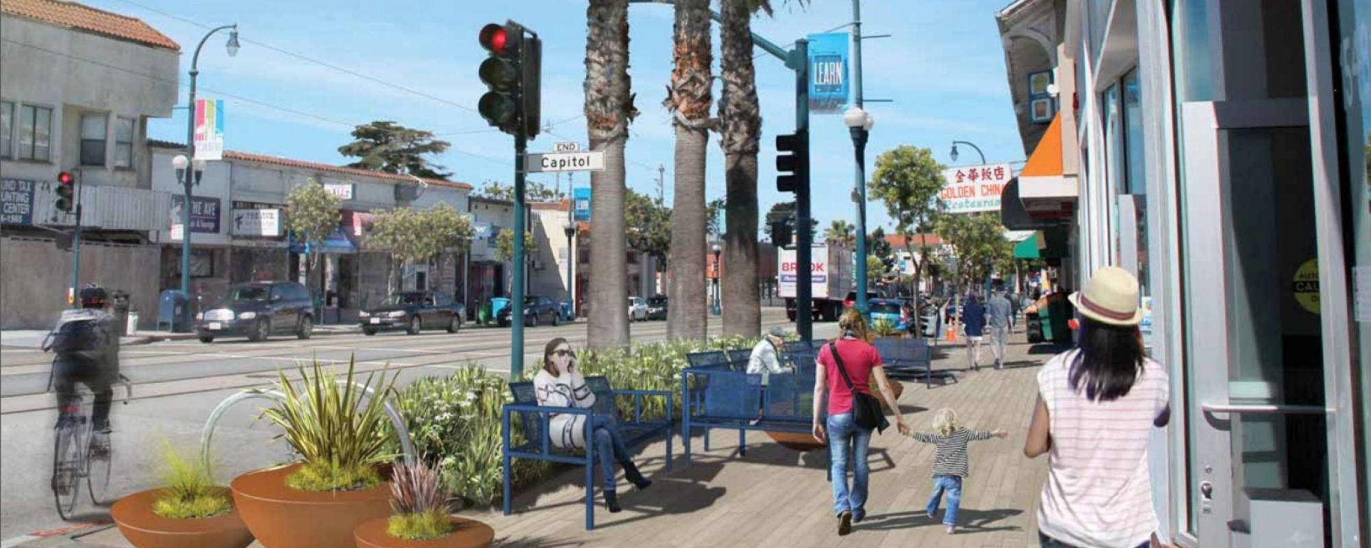 Ocean Avenue Corridor Design Project rendering